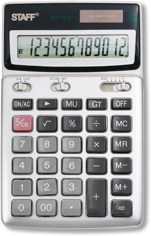Калькулятор настольный Staff STF-1612 калькулятор canon ws 1210t 12 разряда настольный регулируемый наклон дисплея черный