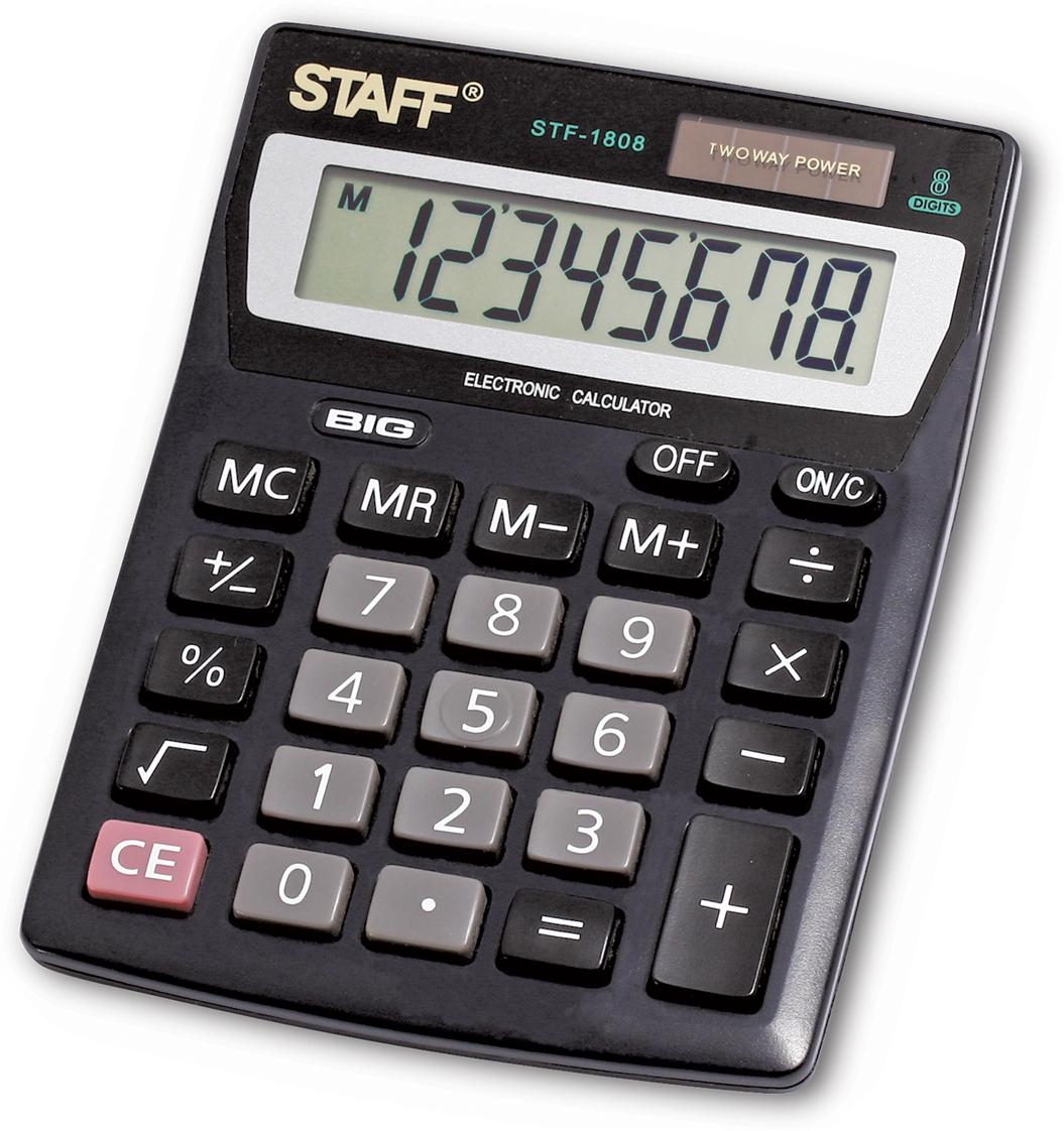 Калькулятор настольный Staff STF-1808 калькулятор staff stf 310