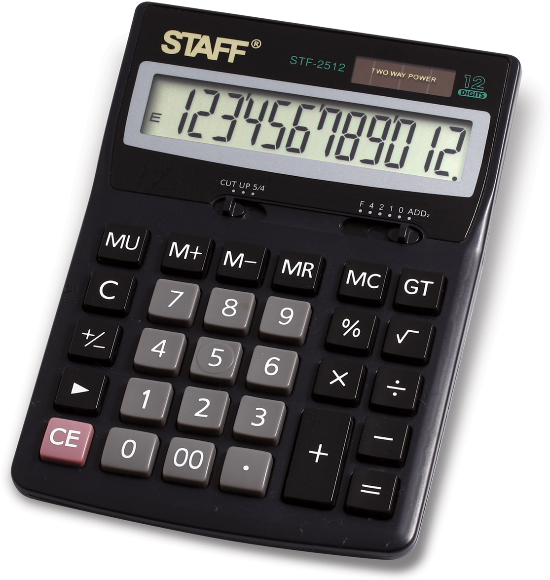 Калькулятор настольный Staff STF-2512 калькулятор бухгалтерский as 888 gr зеленый