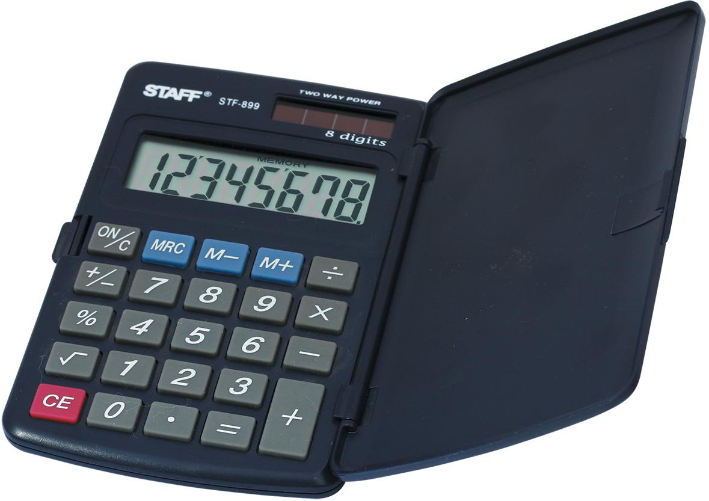 Калькулятор карманный Staff STF-899 канцелярия staff калькулятор карманный stf 6238
