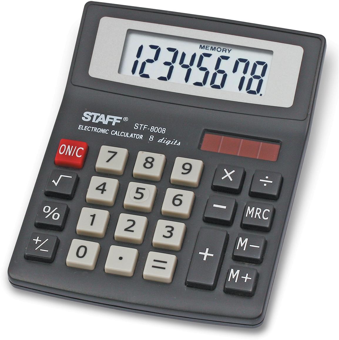 Калькулятор настольный Staff STF-8008. 250147 канцелярия staff калькулятор карманный stf 6238