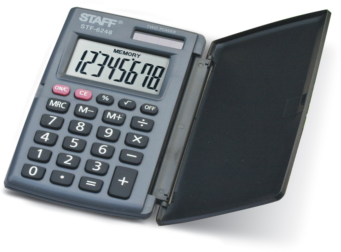 Калькулятор карманный Staff STF-6248 канцелярия staff калькулятор карманный stf 6238