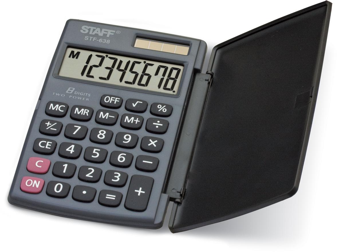 Калькулятор карманный Staff STF-638 канцелярия staff калькулятор карманный stf 6238