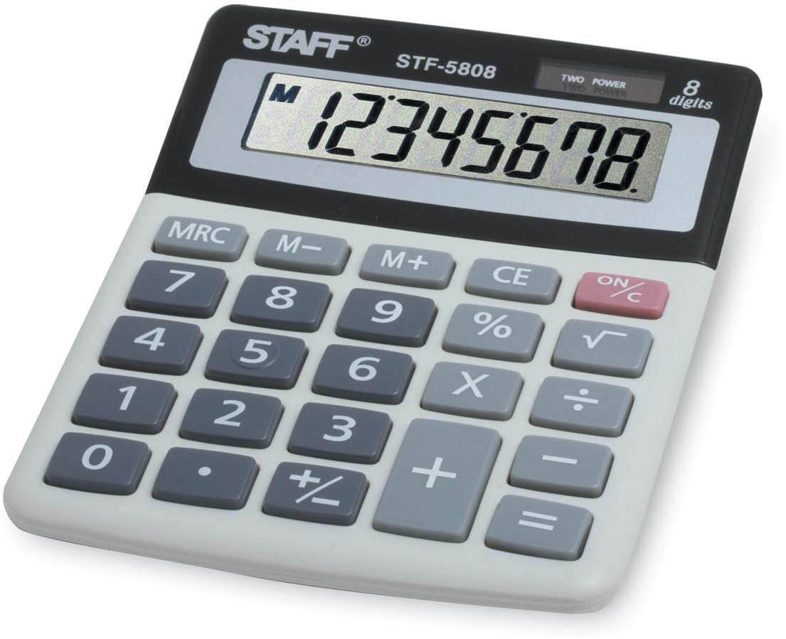 Калькулятор настольный Staff STF-5808 канцелярия staff калькулятор карманный stf 6238