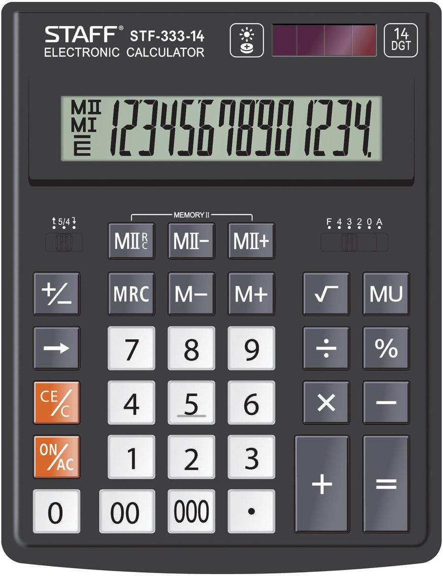 Калькулятор настольный Staff Plus STF-333, 14 разрядов калькулятор staff stf 310