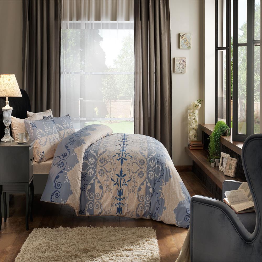 Комплект белья ТАС Elenor, 1,5-спальный, наволочки 50x70, цвет: голубой. 4080-34513
