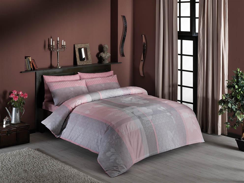 Комплект белья ТАС Alba, 1,5-спальный, наволочки 50x70, цвет: розовый. 4080-34519