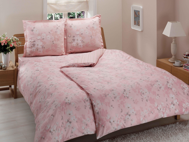 Комплект белья ТАС Shadow, 1,5-спальный, наволочки 50x70, цвет: розовый. 4080-45465