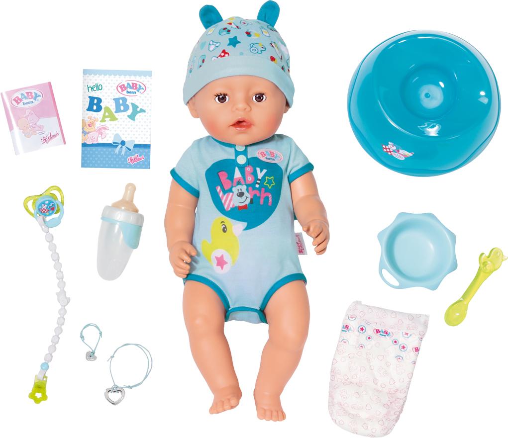 Кукла-мальчик Zapf Creation Baby Born интерактивная, 43 см