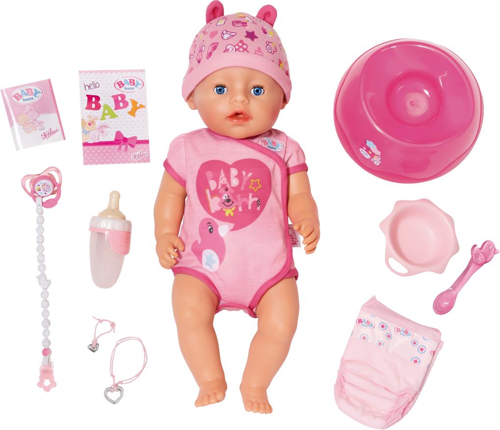 Кукла Zapf Creation Baby Born интерактивная, 43 см соска zapf creation соска с цепочкой