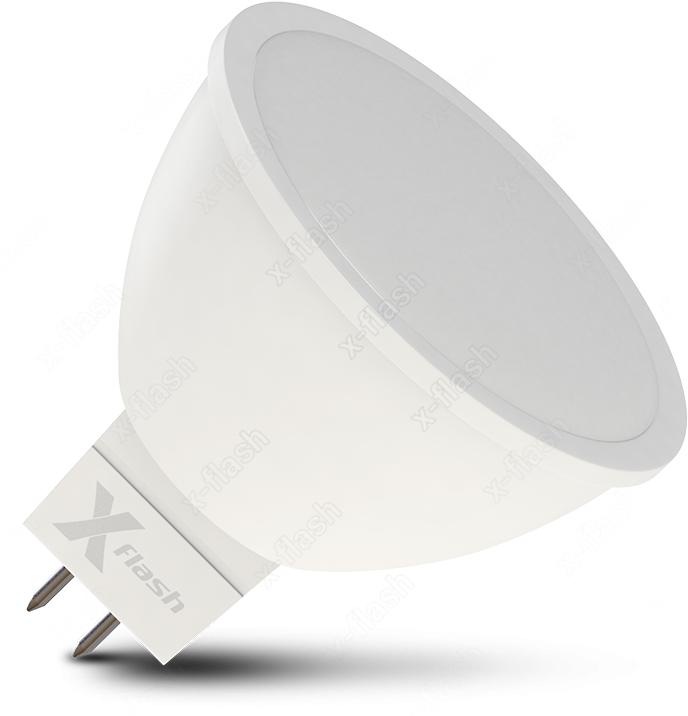 цена Лампочка X-Flash XF-GU5.3-6W-4000K-12V, Нейтральный свет 6 Вт, Светодиодная онлайн в 2017 году