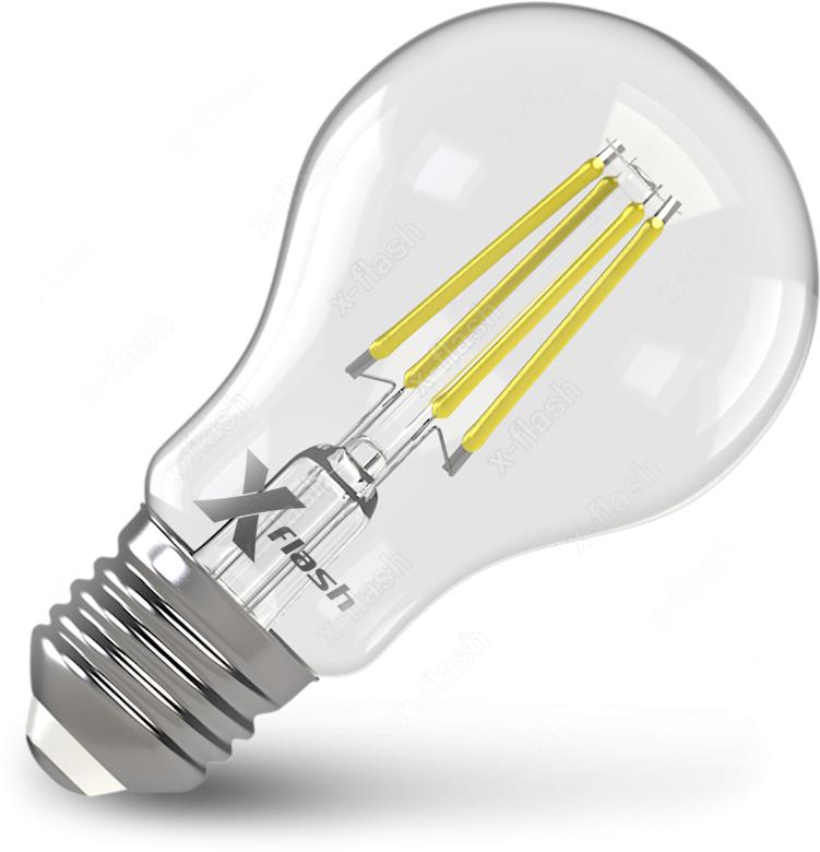 Лампа светодиодная диммируемая X-Flash XF-E27-FLD-A60-6W-2700K-230V