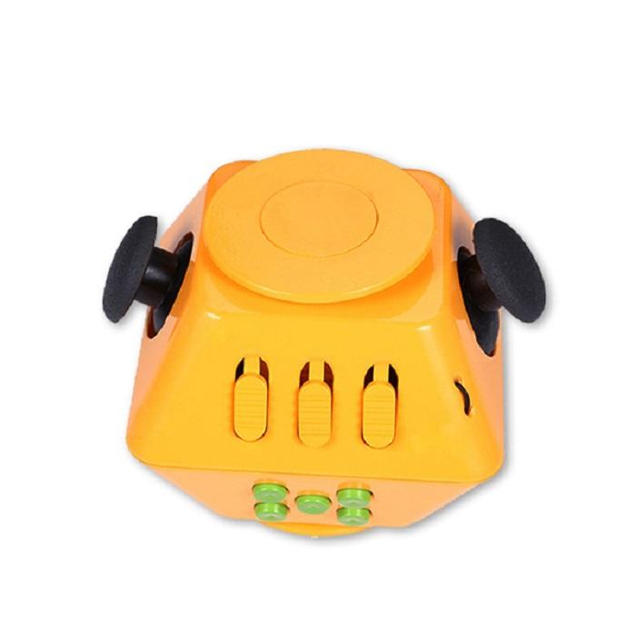 Игрушка-антистресс Boom Spinner Cube, оранжевый, зеленый игрушка антистресс fidget cube белый 6125