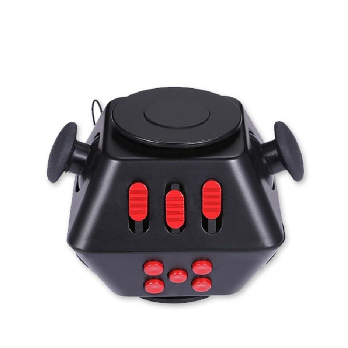 Игрушка-антистресс Boom Spinner Cube, черный, красный игрушка антистресс fidget cube белый 6125