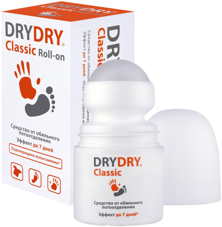 Дезодорант Dry Dry Classic Roll-on / Драй Драй Классик Ролл-он, 35мл. – средство от обильного потоотделения дезодоранты dry ru средство от обильного потоотделения с пролонгированным действием dry ru roll драй ру ролл roll on