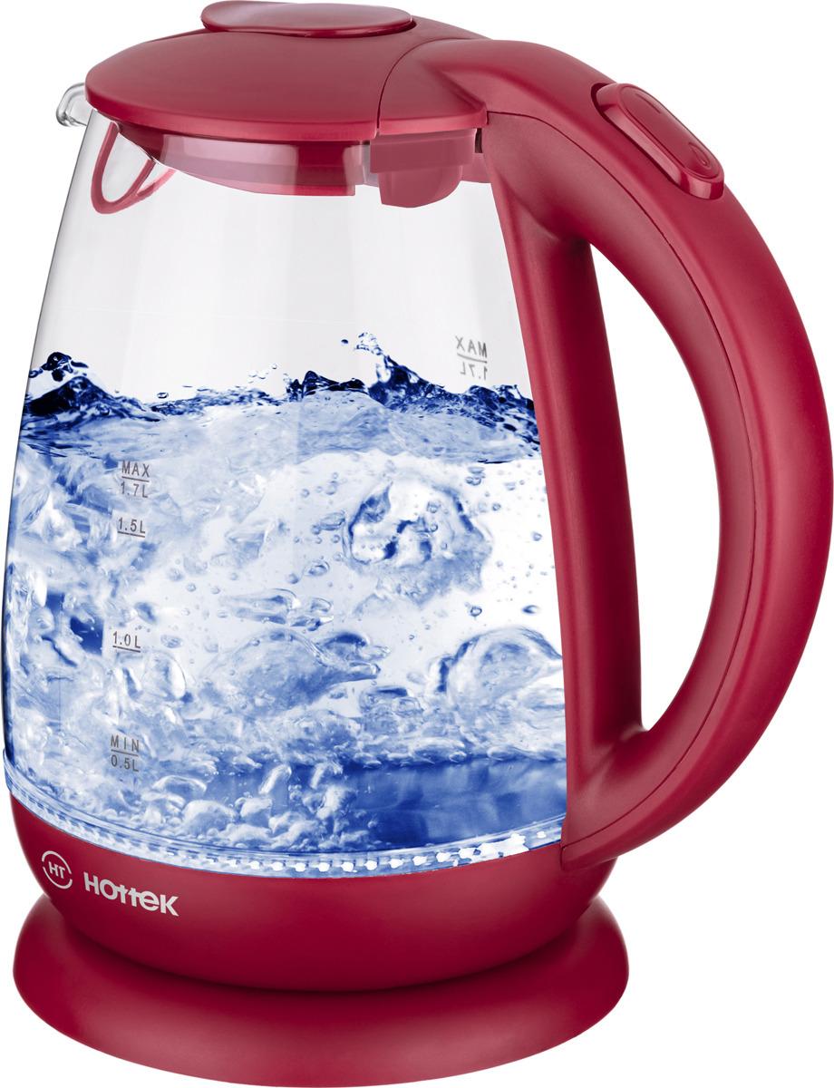 цена на Электрический чайник Hottek 960-402, цвет: красный