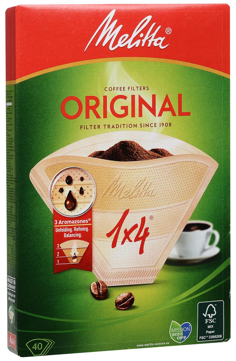 Melitta Original, Brownфильтры для заваривания кофе, 1х4/40 Melitta