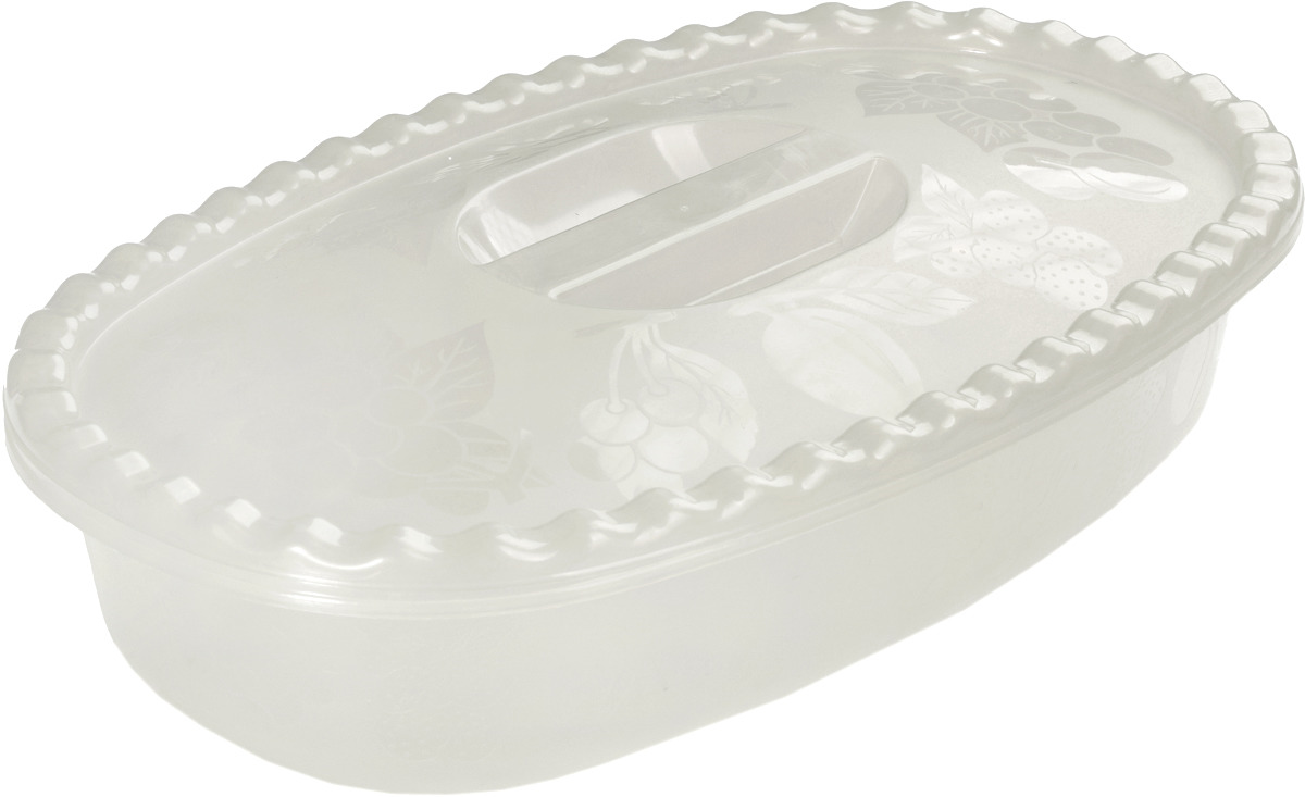 Миска Idea, цвет: белый ротанг, с крышкой, 2,7 л цена и фото