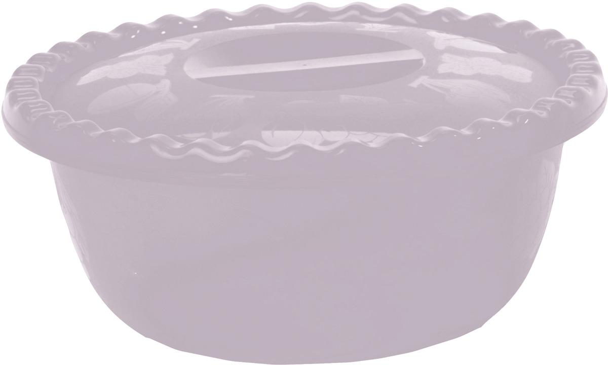 Миска Idea, цвет: чайная роза, с крышкой, 3 л миска plast team с крышкой цвет пурпурный 3 2 л
