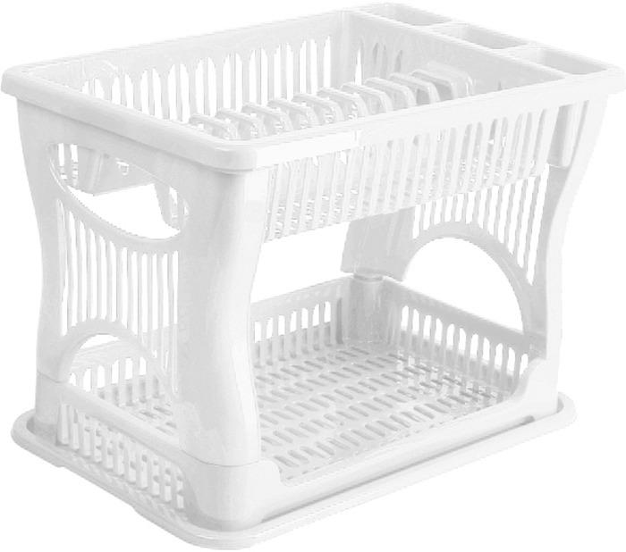 Сушилка для посуды Idea, двухъярусная, цвет: белый. М 1175