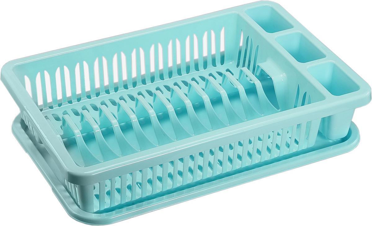 Сушилка для посуды Idea, цвет: аквамарин. М 1174 idea м 5145