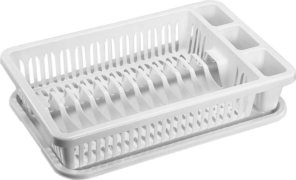 Сушилка для посуды Idea, цвет: белый. М 1174