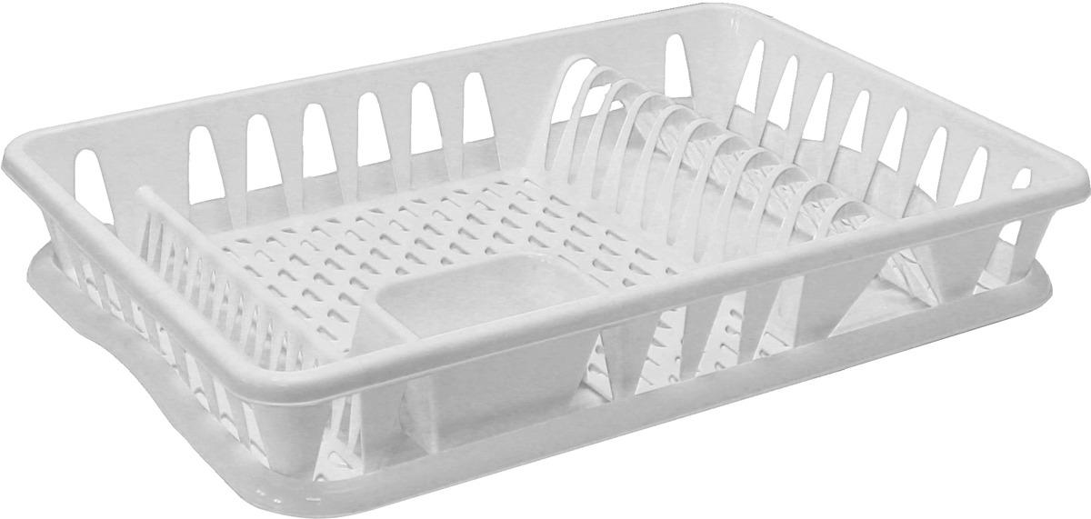 Сушилка для посуды Idea, цвет: белый. М 1169 ларес сушилка д посуды бамбук