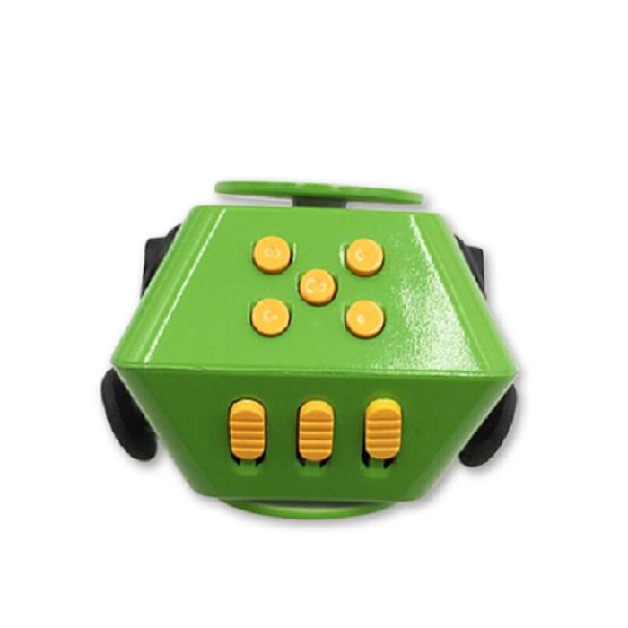 Игрушка-антистресс Boom Spinner Cube, зелено-оранжевый sesibibi 3pcs цвет случайный