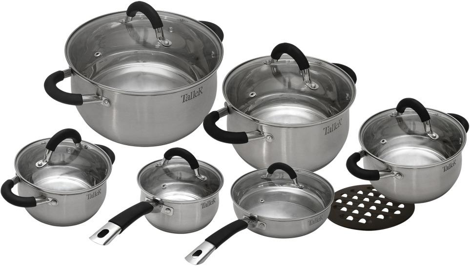 Набор посуды Taller Шелборн, 13 предметов. TR-1047 кастрюля с крышкой 16 см 1 8 л vinzer