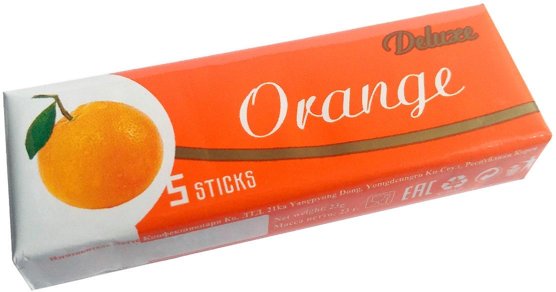 Жевательная резинка Lotte Deluxe, апельсиновая, 23 г lotte cool mint жевательная резинка 26 г