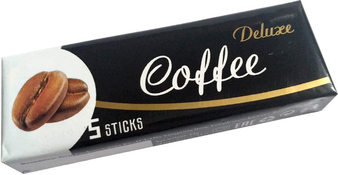 Жевательная резинка Lotte Deluxe, кофейная, 23 г