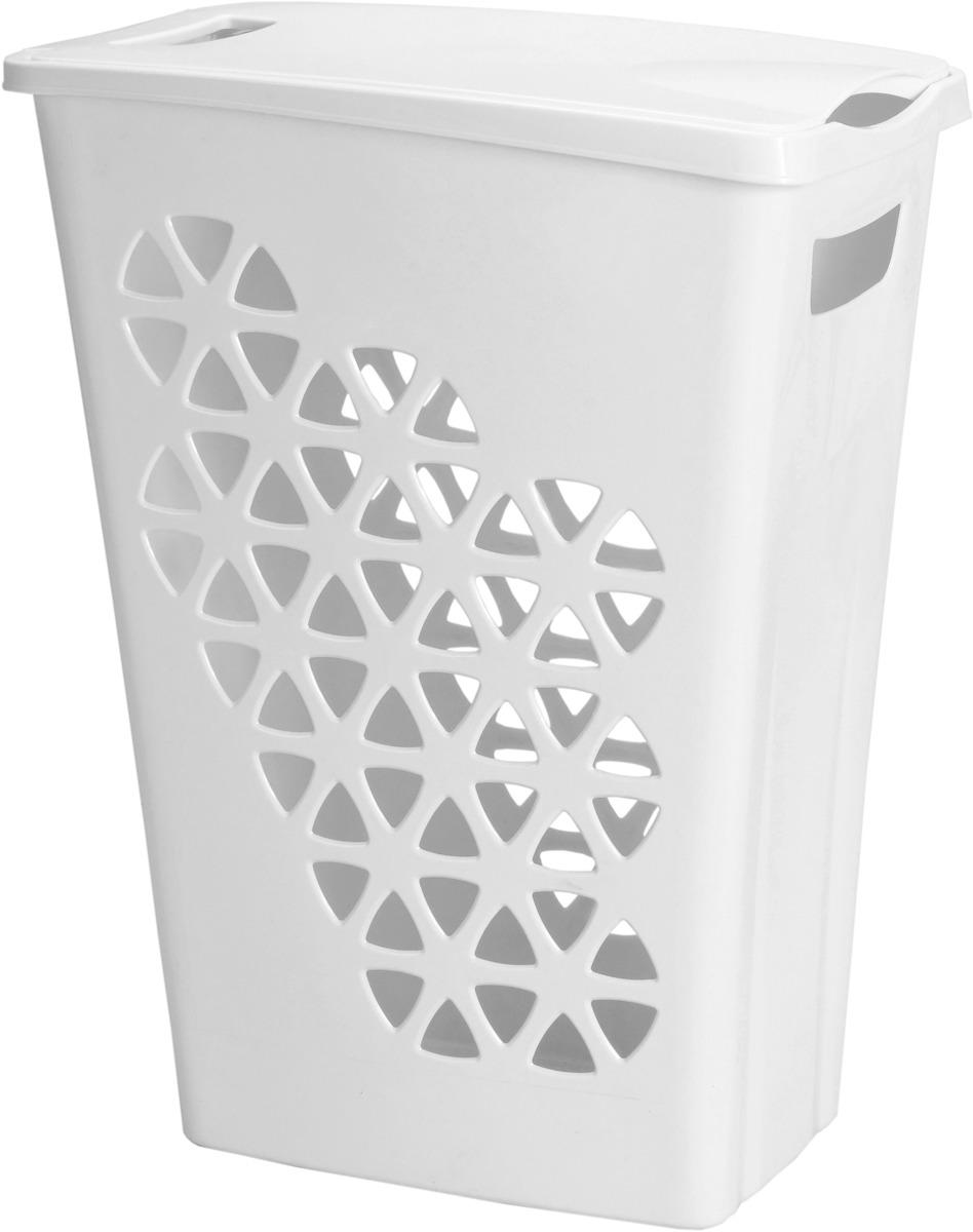 Корзина для белья Idea Венеция, узкая, цвет: белый корзина для белья idea венеция узкая цвет белый