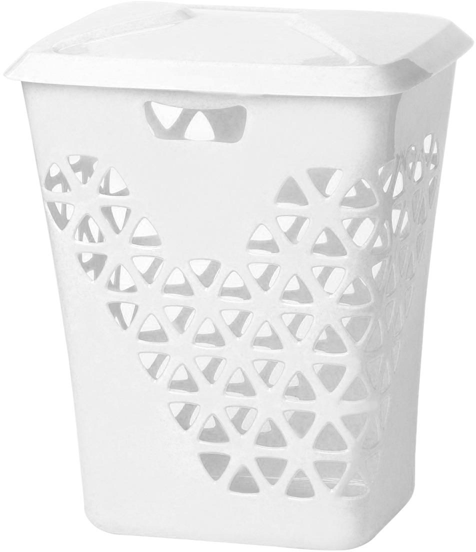 Корзина для белья Idea Венеция, цвет: белый, 60 л корзина для белья idea венеция узкая цвет белый
