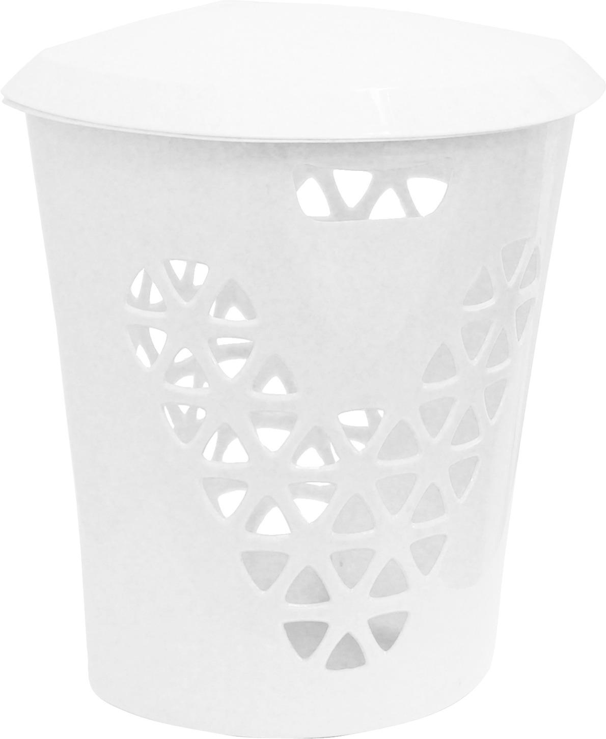 Корзина для белья Idea Венеция, угловая, цвет: белый, 50 л корзина для белья idea венеция узкая цвет белый