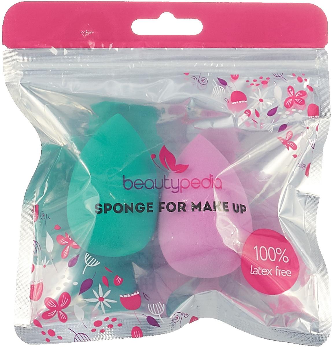 Набор спонжей для макияжа Beautypedia Sponge, без латекса, цвет: розовый, зеленый, 2 шт беседка удачная мебель уют зеленый 329 a 32 bl 329