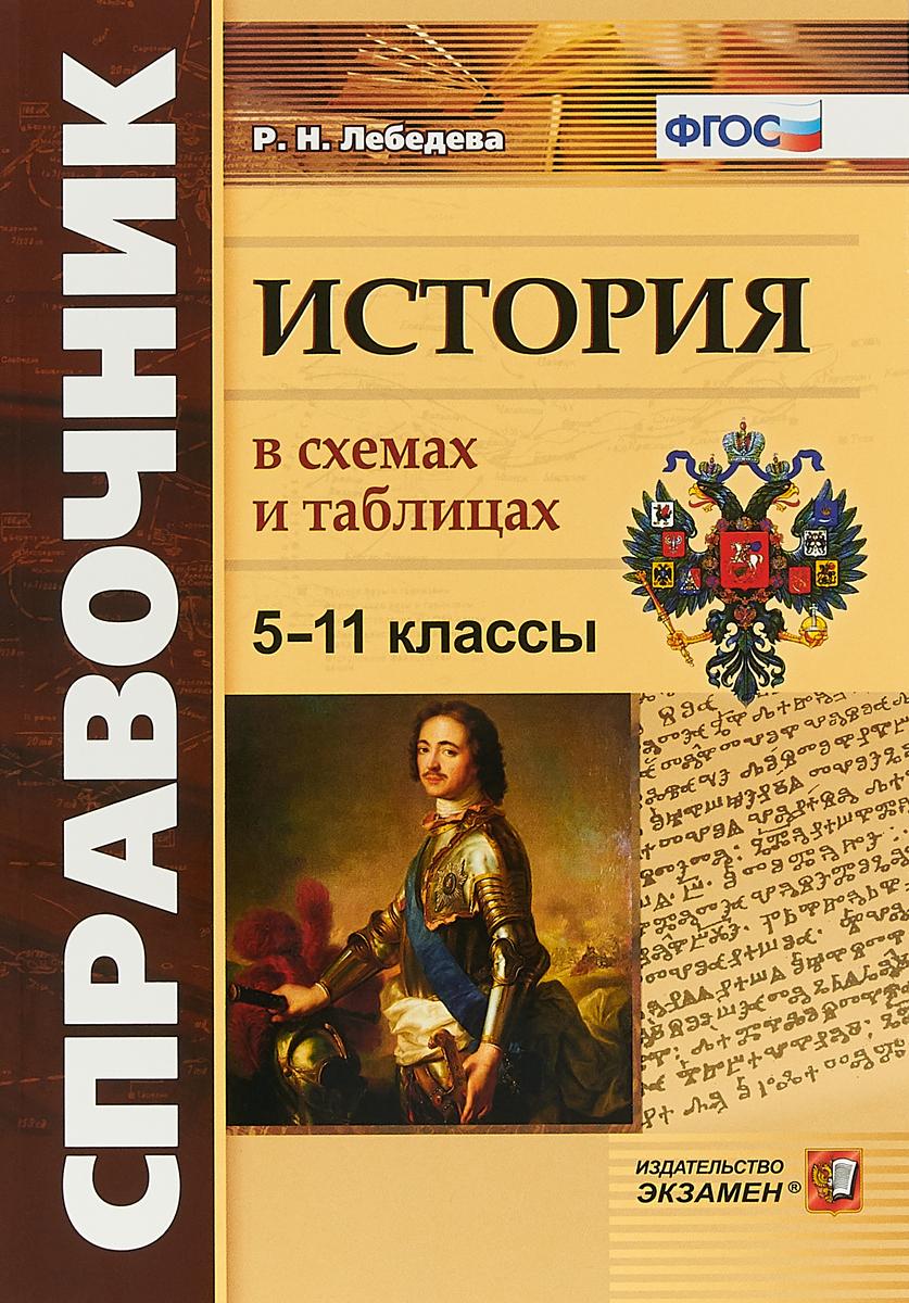 Р. Н. Лебедева История. 5-11 классы. В схемах и таблицах