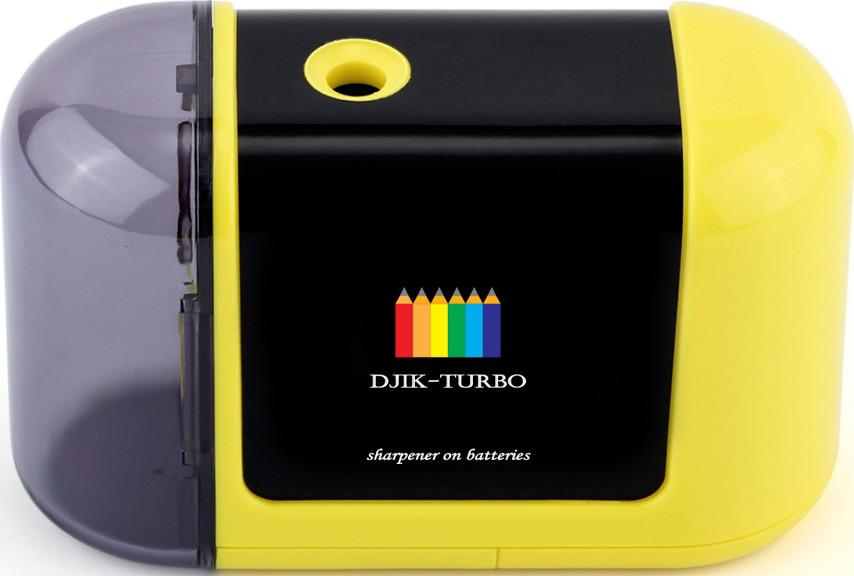 Точилка Джик-турбо, на батарейках, цвет: желтый