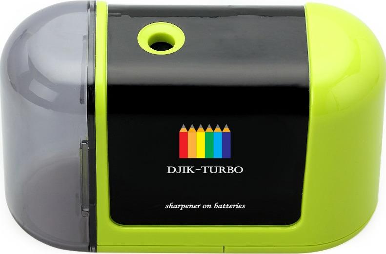 Точилка Джик-турбо, на батарейках, цвет: зеленый