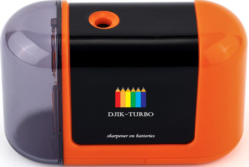 Точилка Джик-турбо, на батарейках, цвет: оранжевый