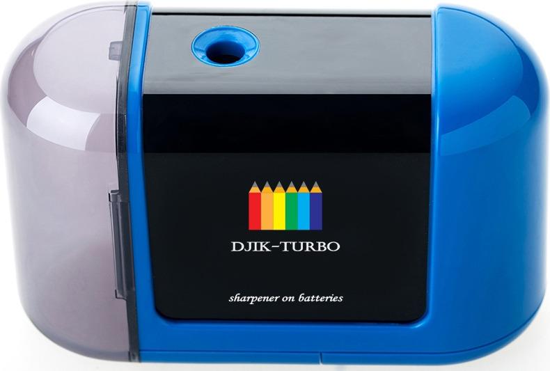 Точилка Джик-турбо, на батарейках, цвет: синий