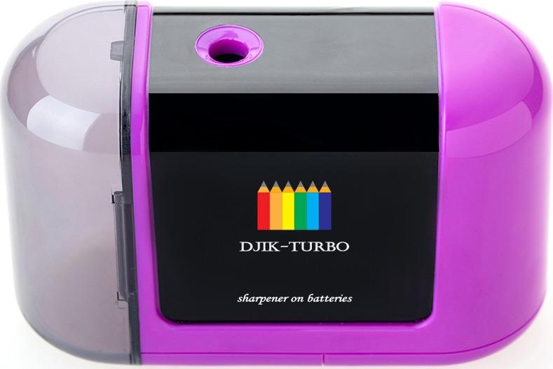 Точилка Джик-турбо, на батарейках, цвет: фиолетовый