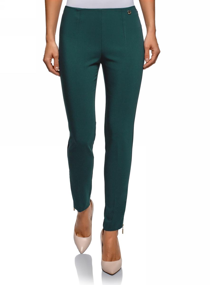Брюки oodji Ultra брюки женские oodji ultra цвет черный 18702004 37854 2900n размер xxs 40
