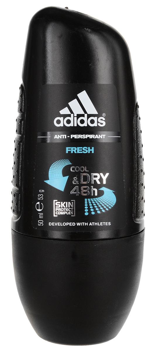 "Adidas Дезодорант шариковый ""Fresh. Cool & Dry"", мужской, 50 мл"