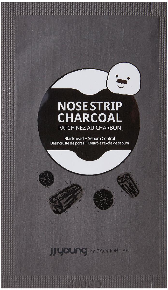 Полоски для носа от черных точек JJYong Pore Nose Strip Charcoal, с углем, 6 шт полоски для носа skinlite алоэ 3 шт