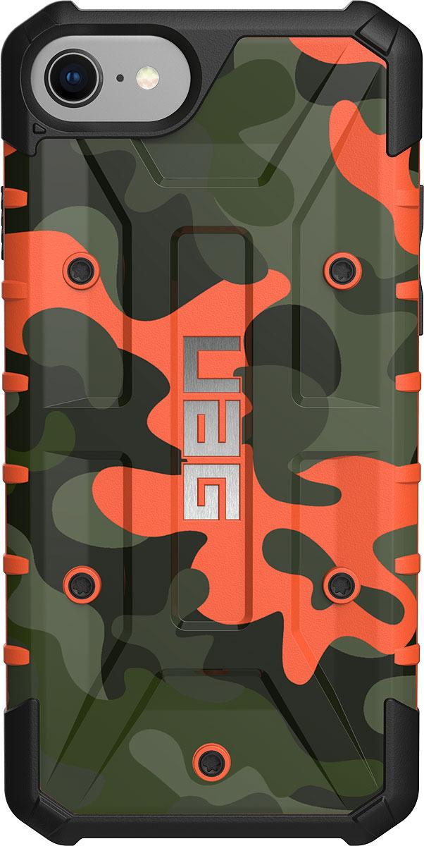 Противоударный чехол UAG Pathfinder для Apple iPhone 8/7/6s, цвет: оранжевый камуфляж uag plasma чехол для apple iphone 8 7 6s gray