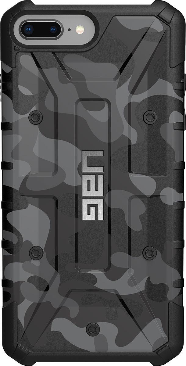 Противоударный чехол UAG Pathfinder для Apple iPhone 8/7/6s Plus, цвет: серый камуфляж uag plasma чехол для apple iphone 8 7 6s gray