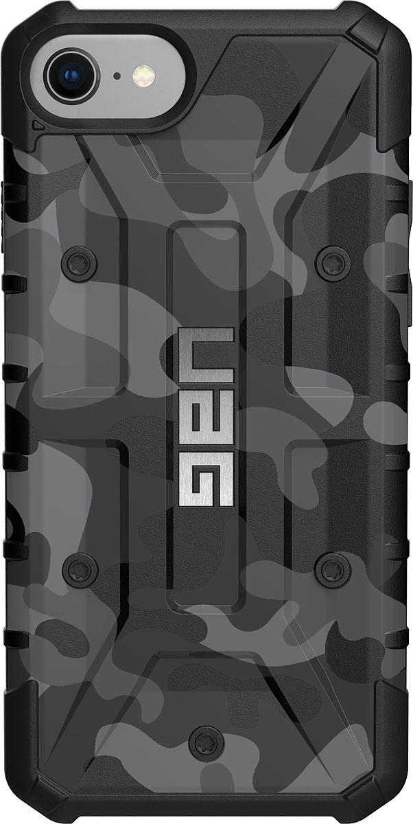 Противоударный чехол UAG Pathfinder для Apple iPhone 8/7/6s, цвет: серый камуфляж uag plasma чехол для apple iphone 8 7 6s gray