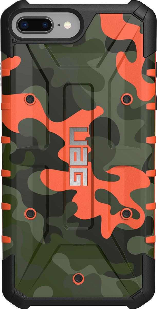 Противоударный чехол UAG Pathfinder для Apple iPhone 8/7/6s Plus, цвет: оранжевый камуфляж uag plasma чехол для apple iphone 8 7 6s gray