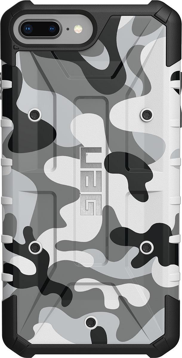 Противоударный чехол UAG Pathfinder для Apple iPhone 8/7/6s Plus, цвет: белый камуфляж uag plasma чехол для apple iphone 8 7 6s gray
