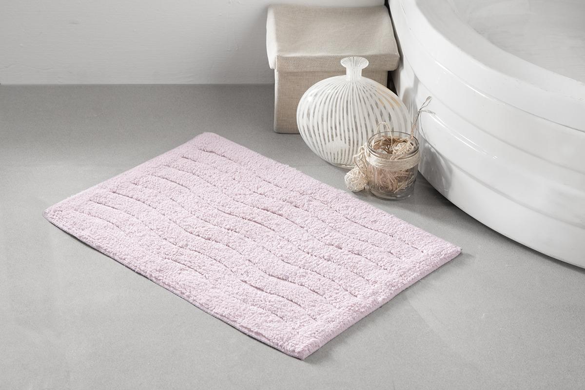 Коврик для ванной Modalin Aren, цвет: розовый, 40 x 60 см